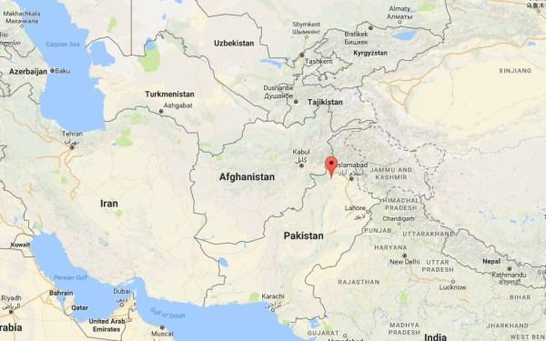 Image: A map showing the location of Darra Adam Khel, Pakistan