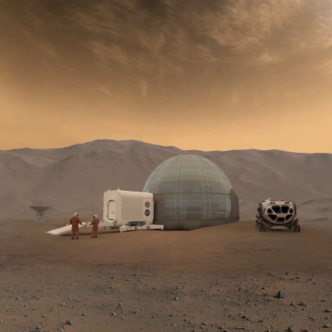 Image: An artist's rendering of the Mars Ice Home concept