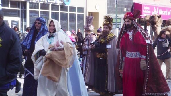 Three Kings Day walk parade organized by El Museo del Barrio.