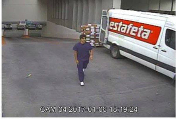 Image: Surveillance video of suspect