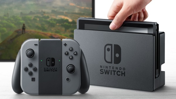 Image: The new Nintendo Switch video game console, which is scheduled for launch in March of 2017.