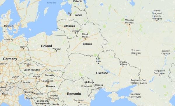 Image: Map showing Ukraine
