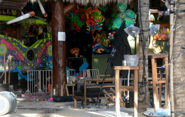 Image: View of the Blue Parrot nightclub in Playa del Carmen, Mexico, where 5 people were killed, three of them foreigners, during a music festival on Jan. 16, 2017.