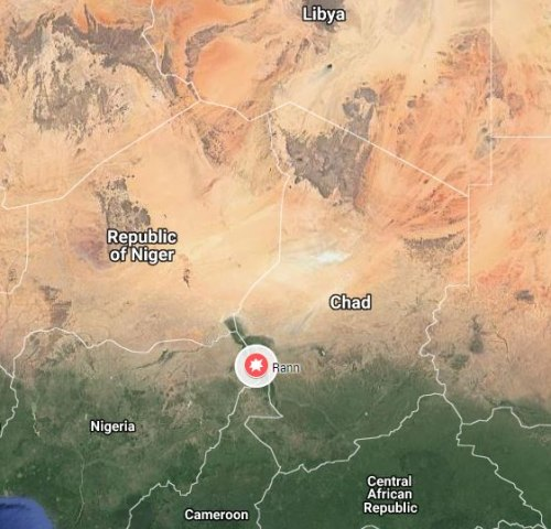 Image: Map of the Nigerian town of Rann