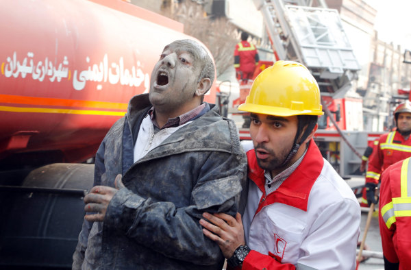 Image: Plasco building fire in Iran