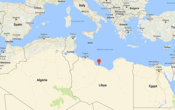 Image: Map showing Sirte, Libya