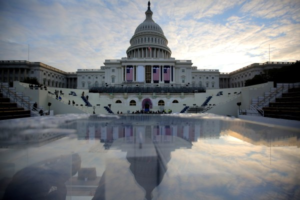 Image: The U.S. Capitol is seen during a rehearsal for the inauguration ceremony of U.S. President-elect Donald Trump in Washington, D.C., on Jan.15, 2017.