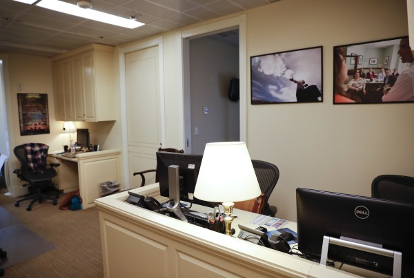 Image: The White House press staff office of the West Wing of the White House