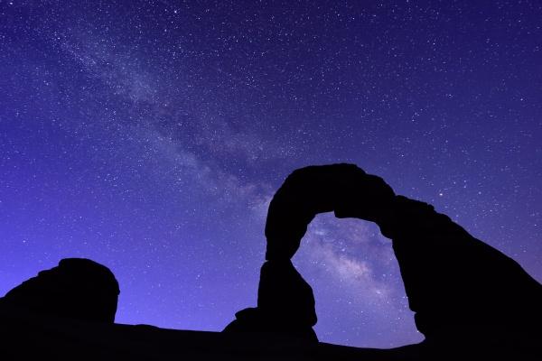 UT: Milky Way Behind Delicate Arch
