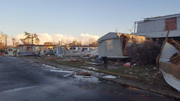 IMAGE: Georgia mobile home park damage