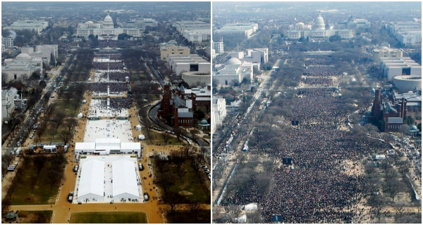 Image: A Picture and Its Story: Crowd controversy: The making of an Inauguration Day photo