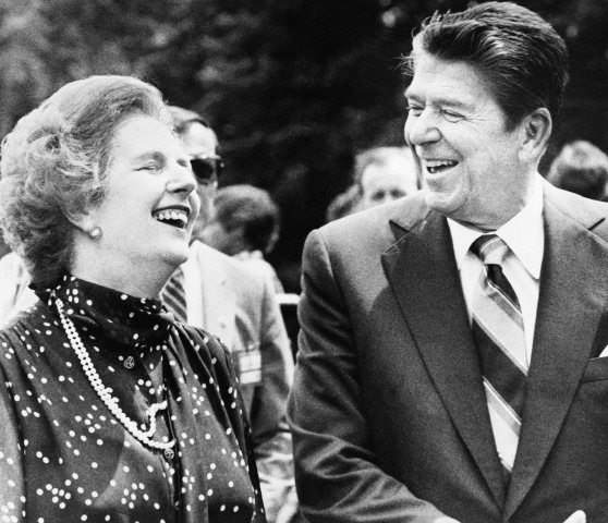Image: Ronald Reagan, Margaret Thatcher