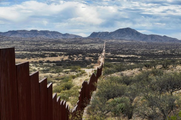 Image: View of the border line between Mexico and the U.S