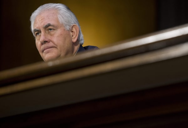 Image: Former ExxonMobil executive Rex Tillerson testifies during his confirmation hearing for Secretary of State before the Senate Foreign Relations Committee on Capitol Hill in Washington, D.C., Jan. 11, 2017.