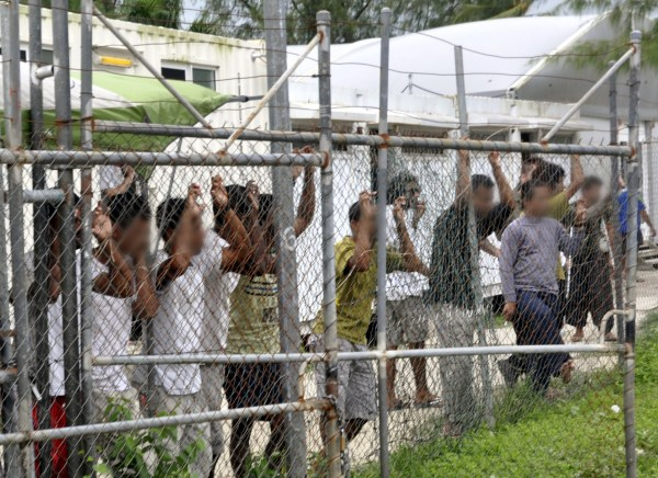 Image: An Australian detention center in Papua New Guinea in 2014