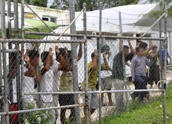 Image: An Australian detention center in Papua New Guinea in 2014
