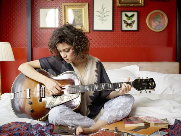 Gaby Moreno playing guitar
