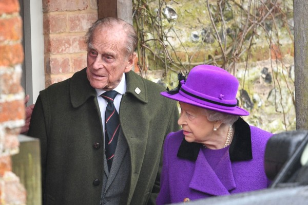 Image: Prince Philip and Queen Elizabeth II on Jan. 15, 2017