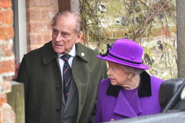Image: Prince Philip and Queen Elizabeth II on Jan. 15, 2017