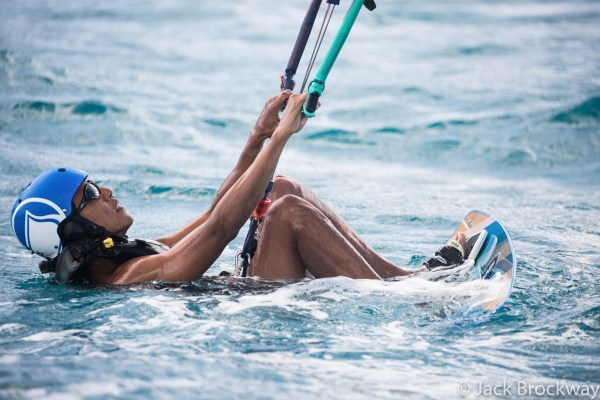 Image: Obama kite surfs in Moskito on the British Virgin Islands