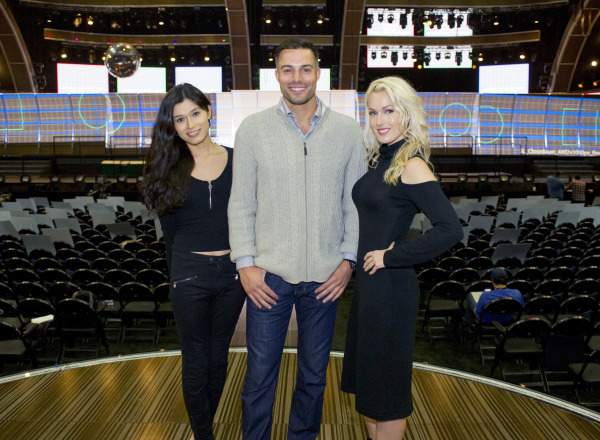 Image: From left: transgender model Martina Robledo, actor and model Derek Marrocco, and model and actress Hollin Haley in Los Angeles.