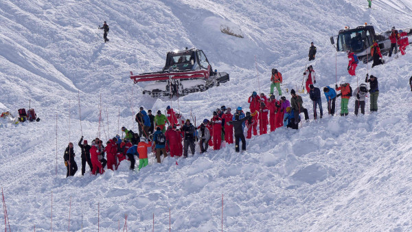 Image: French Alps avalanche site