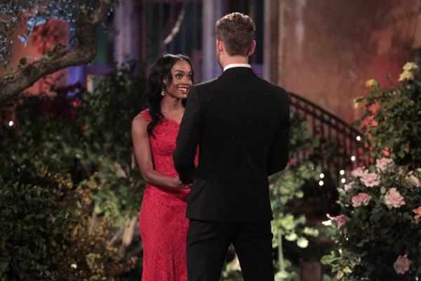 Image: Rachel Lindsay is shown on the season premiere of this seasons The Bachelor with Nick Viall.