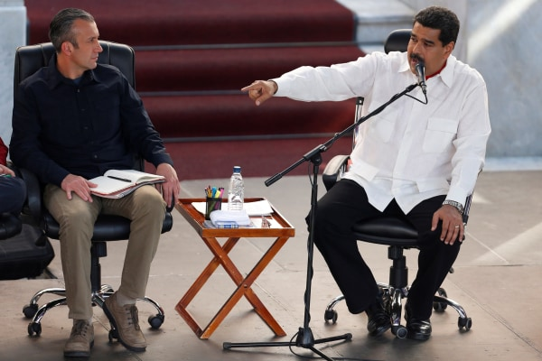 Image: File Photo: Venezuela's President Nicolas Maduro speaks during a meeting to commemorate the 18th anniversary of the arrival to the presidency of the late President Hugo Chavez at the Miraflores Palace in Caracas
