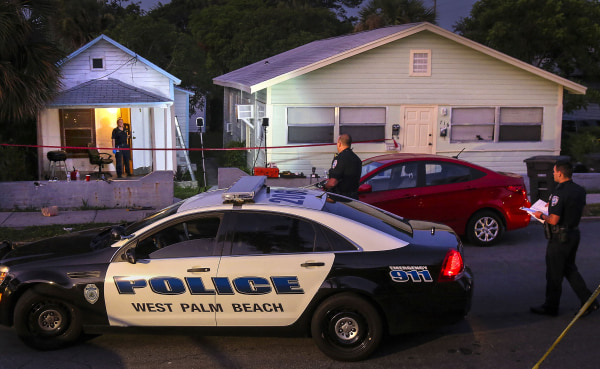 Image: West Palm Beach police investigate an overnight shooting