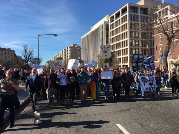 Image: Marchers in Washington, D.C.