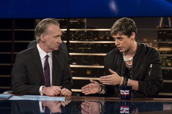 IMAGE: Bill Maher and Milo Yiannopoulos