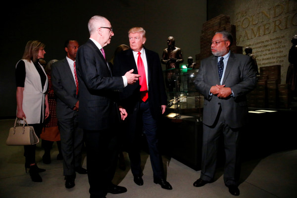 Image: Trump visits the National Museum of African American History and Culture in Washington