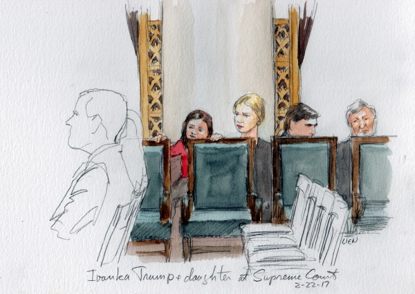 Image: Ivanka Trump and daughter seated in the Supreme Court.
