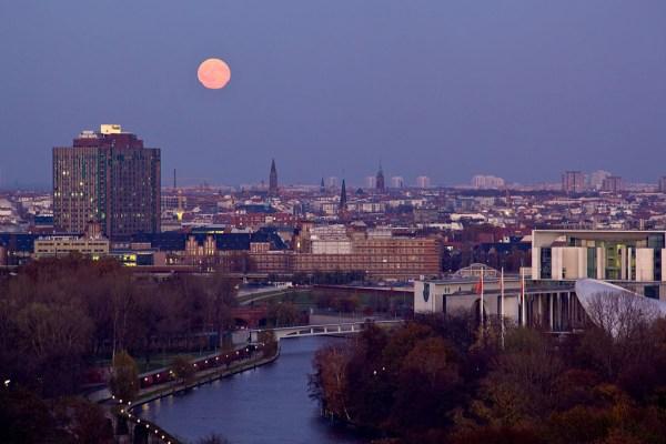 Berlin: view at the city at night