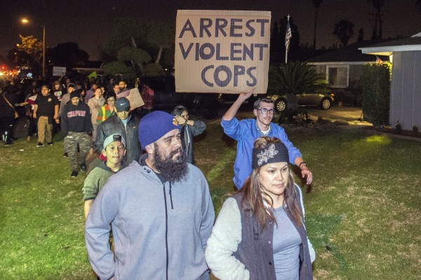 Image: Anaheim police protest