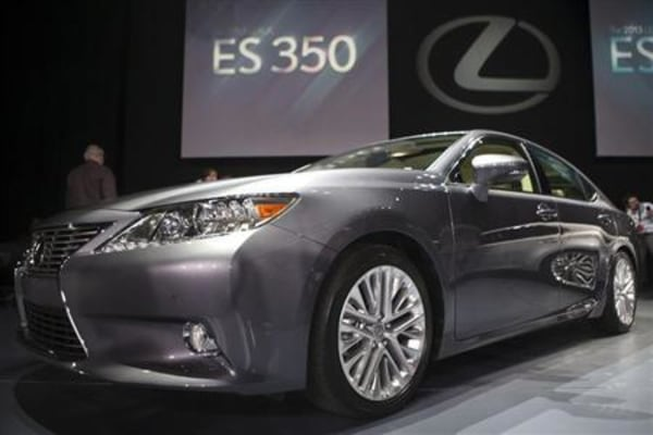The Lexus ES350 is seen at the car's unveiling during the 2012 New York International Auto Show in New York