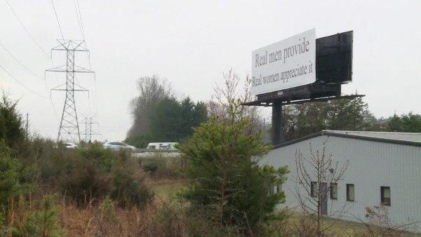 Image: A billboard in Greensboro, North Carolina