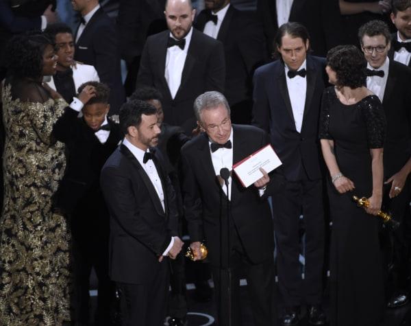 Image: Jimmy Kimmel and Warren Beatty