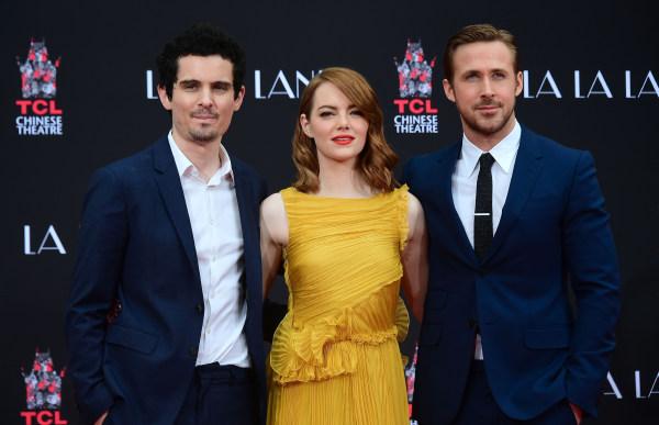 Image: Damien Chazelle, Emma Stone and Ryan Gosling