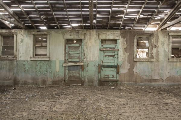 Image: A building in the historic Rio Vista Farm in Socorro, Texas.