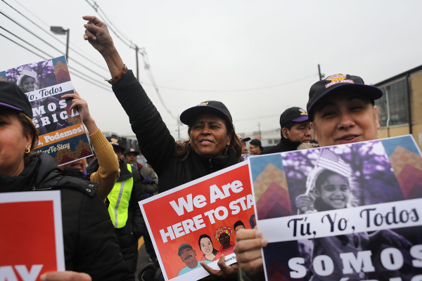 Image: Immigration Activists Protest At ICE Detention Center In New Jersey
