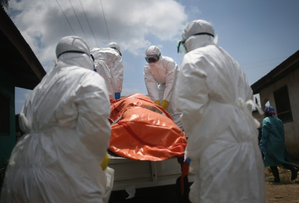 Image: Ebola patient in Liberia