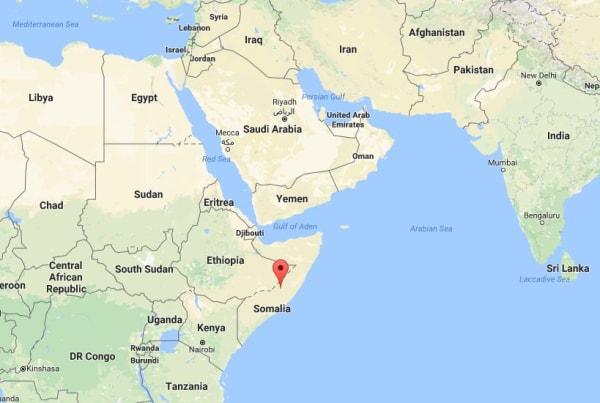 Image: Map showing Somalia