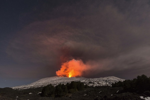 Image: Mount Etna spewing lava