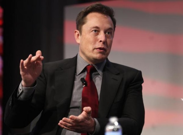 Tesla Motors CEO Musk talks at the Automotive World News Congress at the Renaissance Center in Detroit