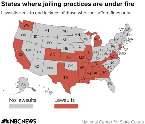 States where jailing practices are under fire
