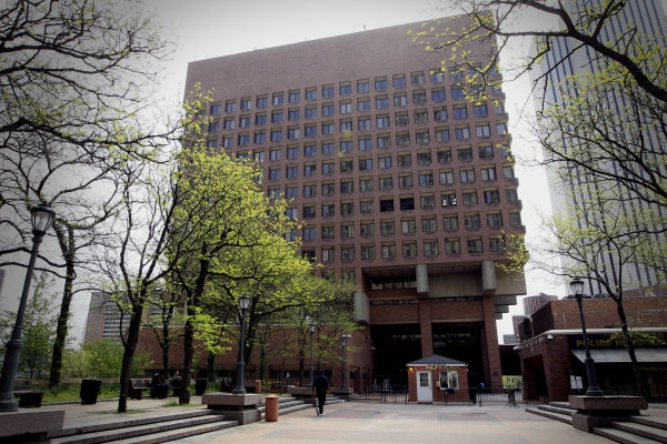 Image: One Police Plaza, the New York Police Department headquarters, is seen in New York.