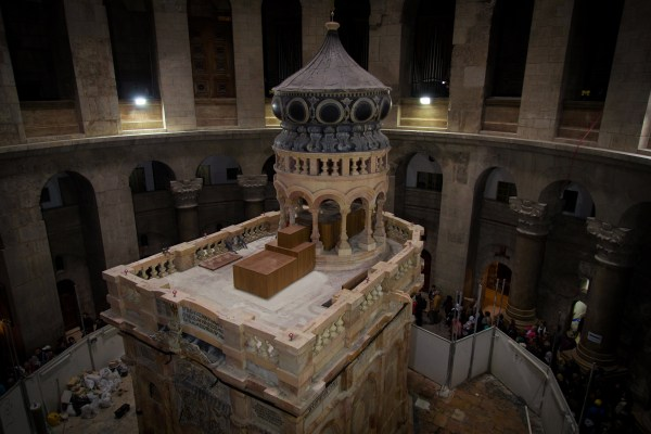 The chamber housing Jesus' tomb, known as the Holy Edicule