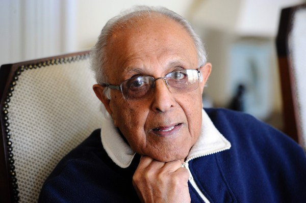 Image: Ahmed Kathrada, anti-apartheid activist and close friend of former South African President Nelson Mandela poses in his house in Johannesburg on July 16, 2012.