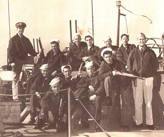 Image: The Dec. 8, 1944, commissioning photograph of PT-305's first crew.